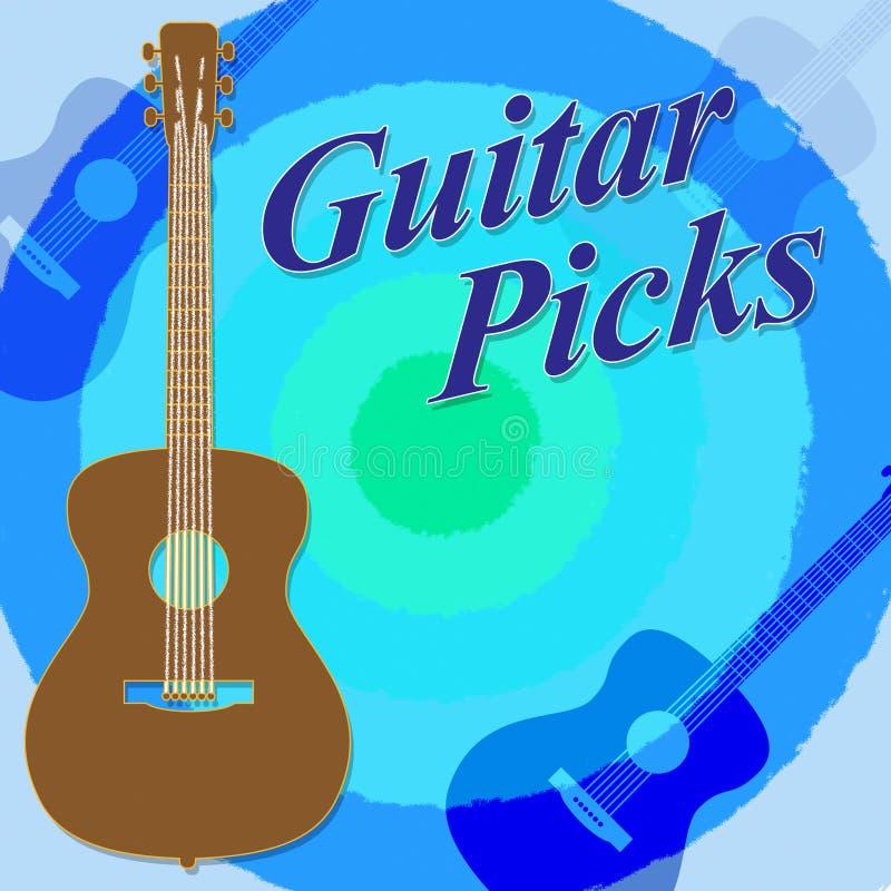 Gitara wybory Wskazują Rockowego gitarzysty I sztuki ilustracji