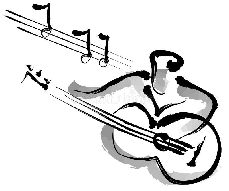 Gitarist stock illustratie