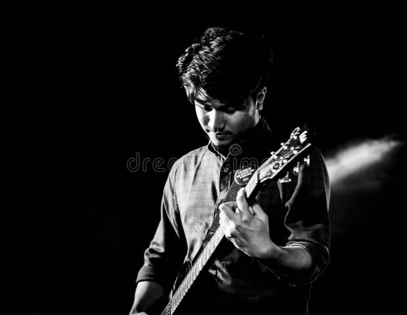 gitarist! royalty-vrije stock fotografie