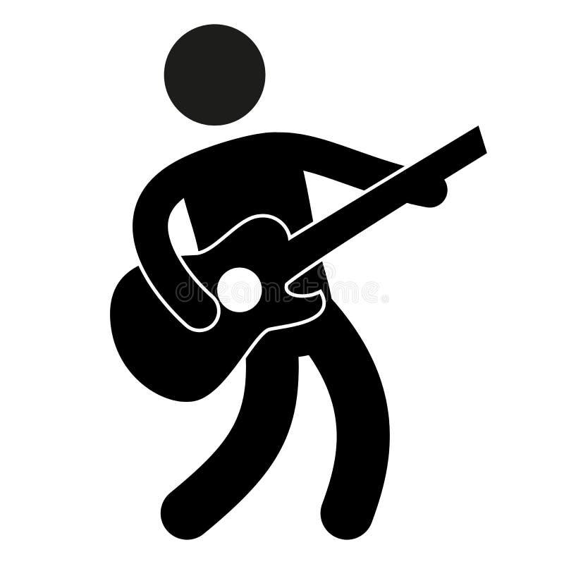 Gitarist Pictogram Vector Illustratie Illustratie