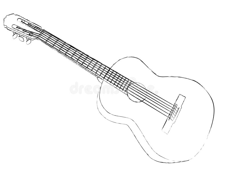 gitarr royaltyfri illustrationer