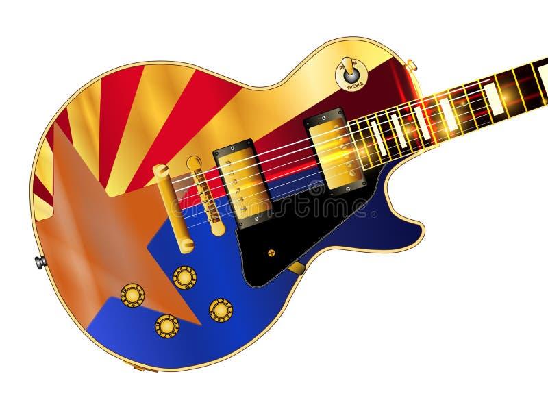 Gitarr för Arizona flaggagitarr royaltyfri illustrationer