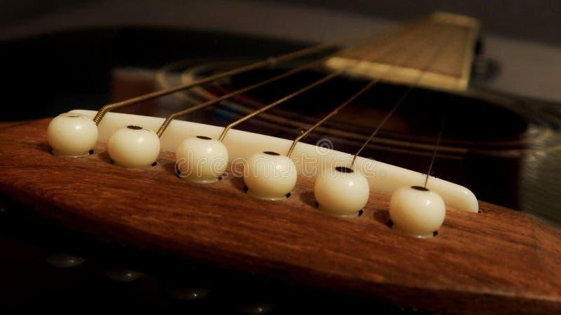 Gitarr i blå färg, härligt instrument, jambo med den tunna halsen arkivbild
