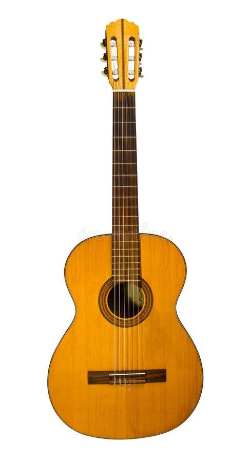 Gitarr på en vit bakgrund fotografering för bildbyråer