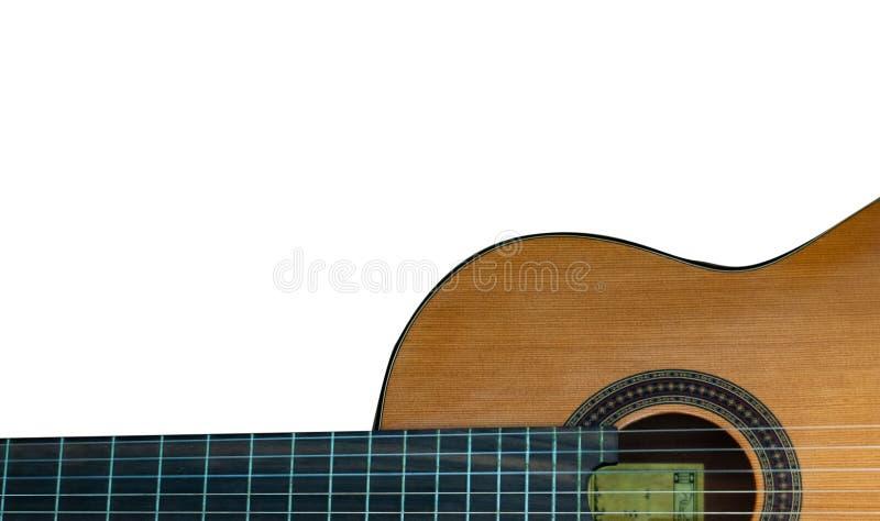 Gitarr p? en vit bakgrund royaltyfria foton