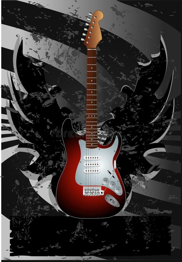 gitarraffisch vektor illustrationer