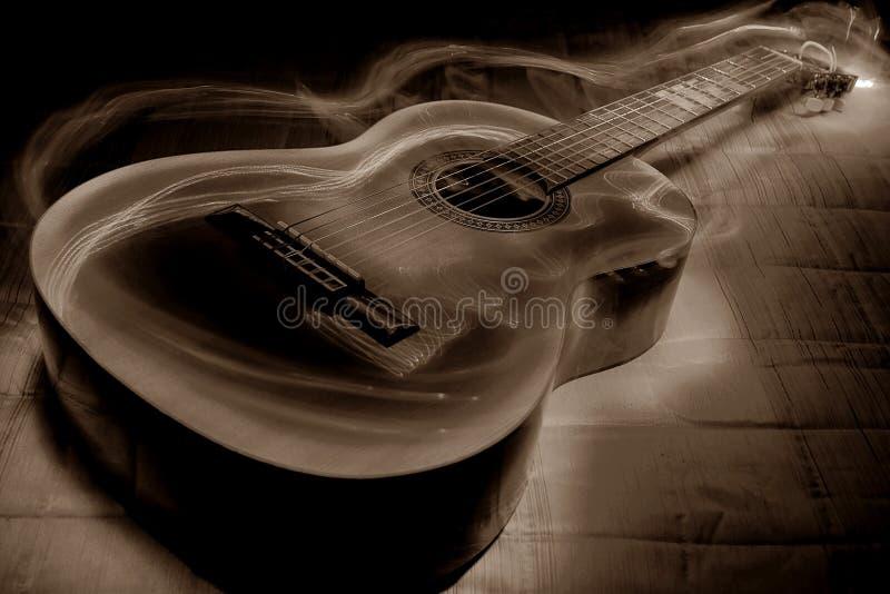 Gitarranda arkivbilder