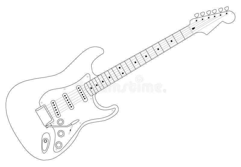 Gitarre 01 stock abbildung
