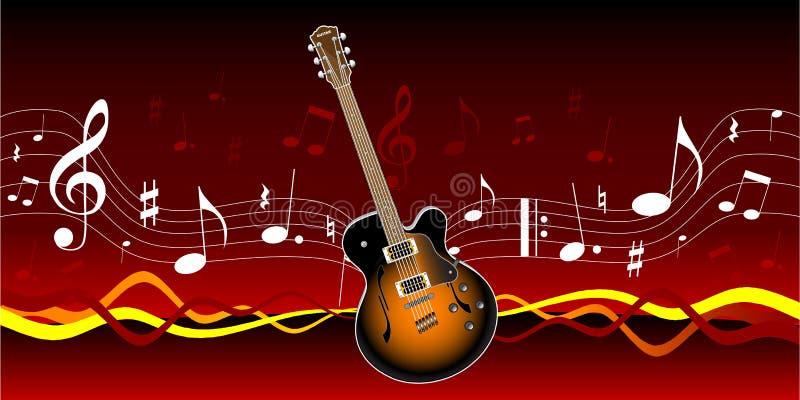 Gitarre und Musik lizenzfreie abbildung