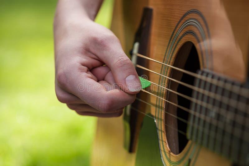 Gitarren-Auswahl stockfotos