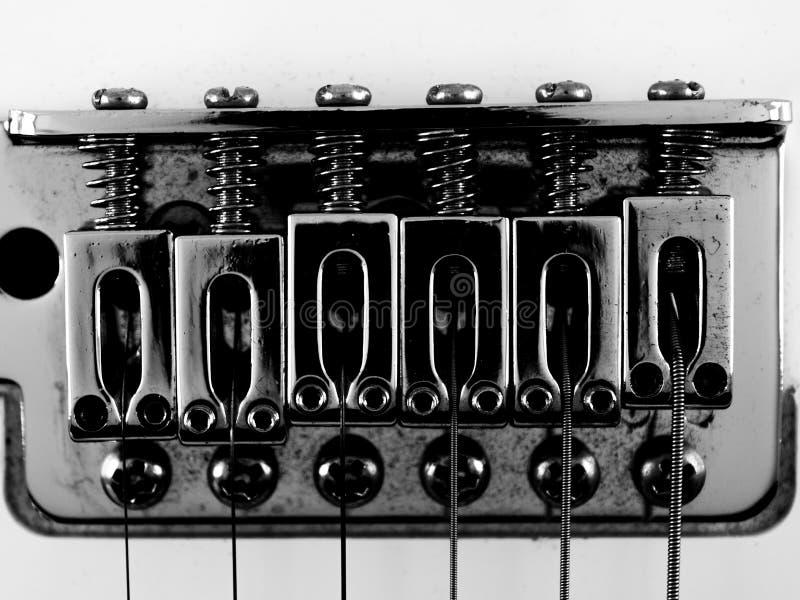 Gitarren-Brücke stockfotos