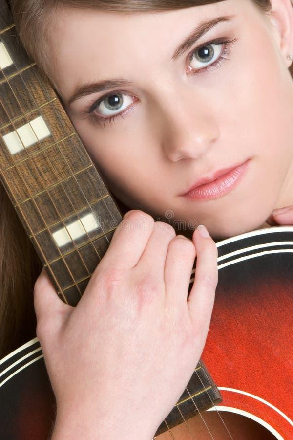 Gitarren-Frau lizenzfreies stockfoto