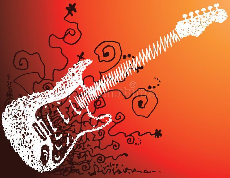 Gitarren Skissar Arkivbilder