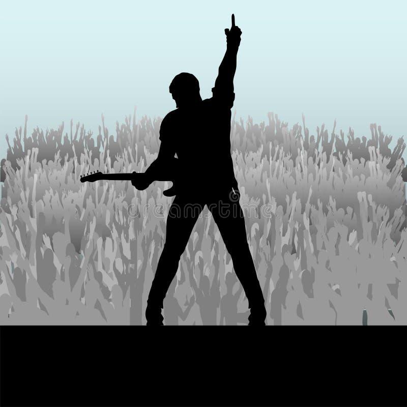 Download Gitarren-Stufe-Meldung vektor abbildung. Illustration von aufregung - 9089393