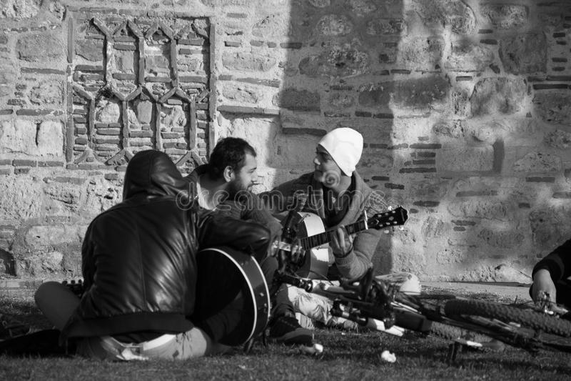 Gitarren und Musik lizenzfreie stockfotos