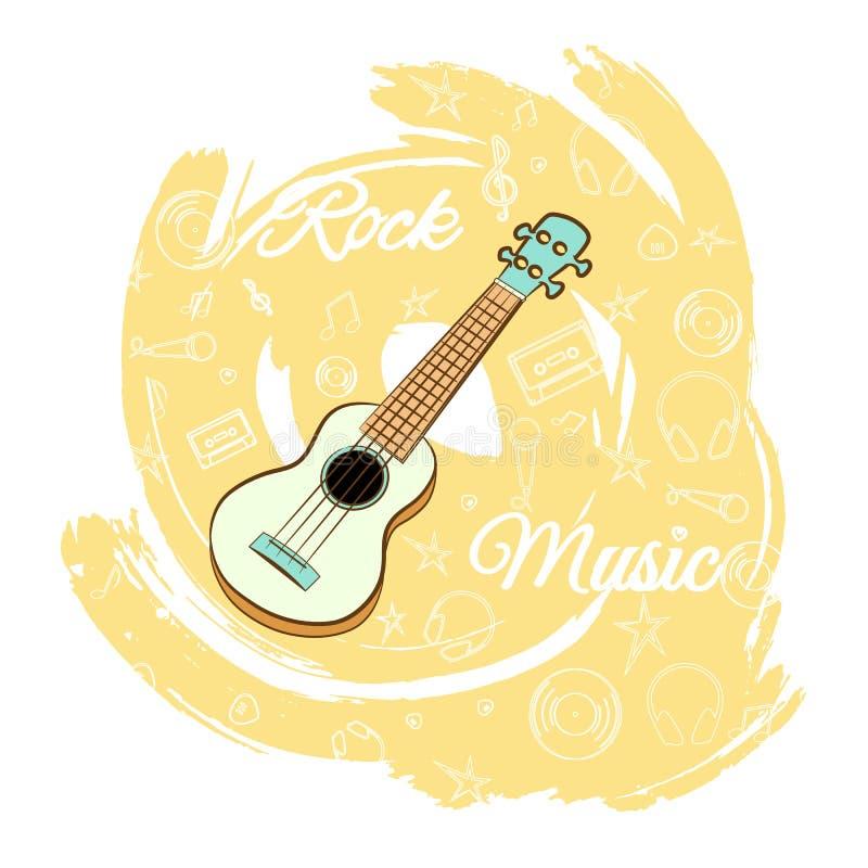 Gitarren vaggar music-04 vektor illustrationer