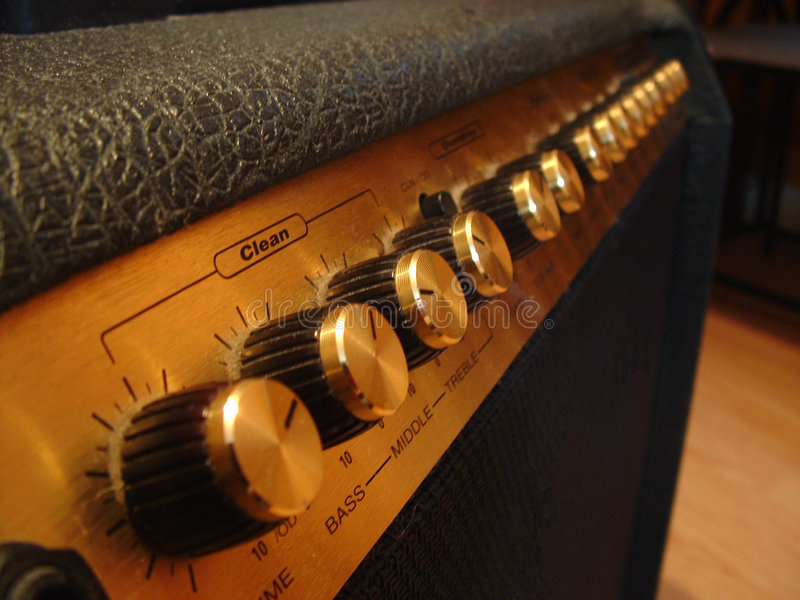 Gitarren-Verstärker lizenzfreie stockfotos