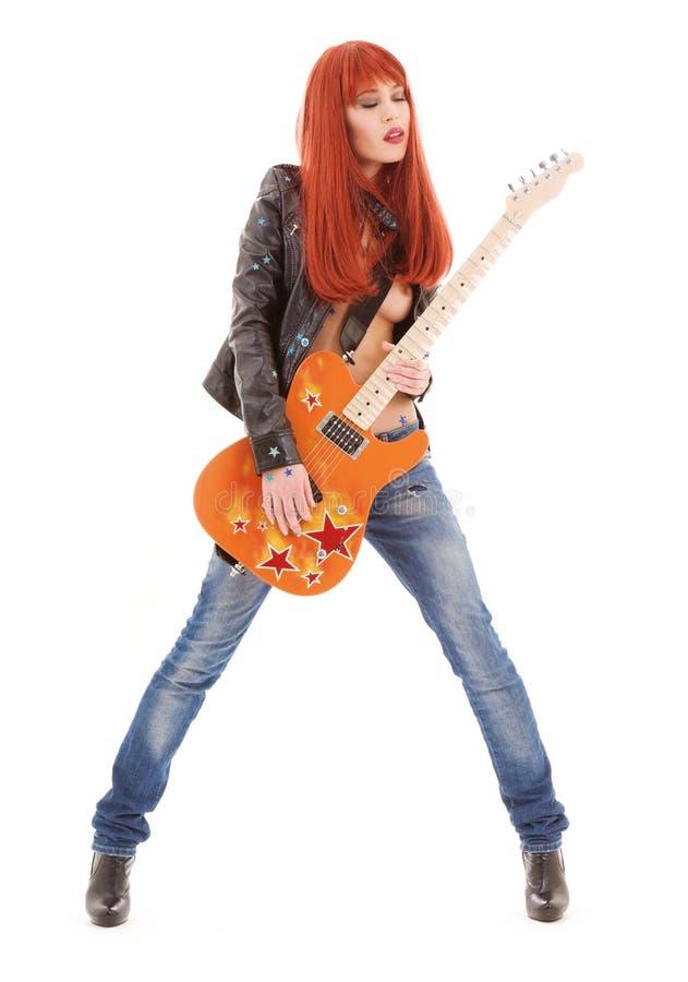 Gitarrenbaby lizenzfreie stockfotos
