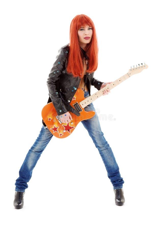 Gitarrenbaby lizenzfreie stockbilder