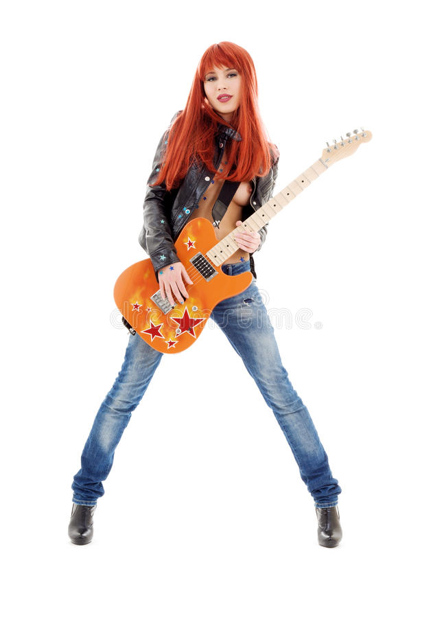 Gitarrenbaby stockfotos