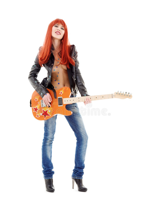 Gitarrenbaby stockfotografie
