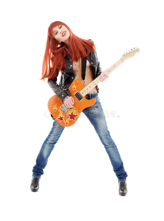Gitarrenbaby lizenzfreie stockfotografie