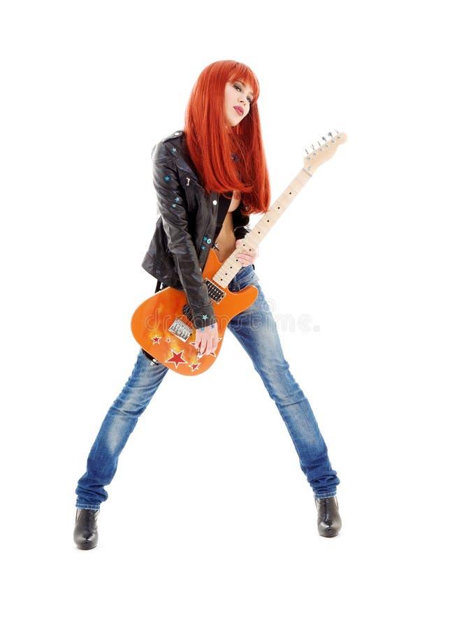 Gitarrenbaby stockbild