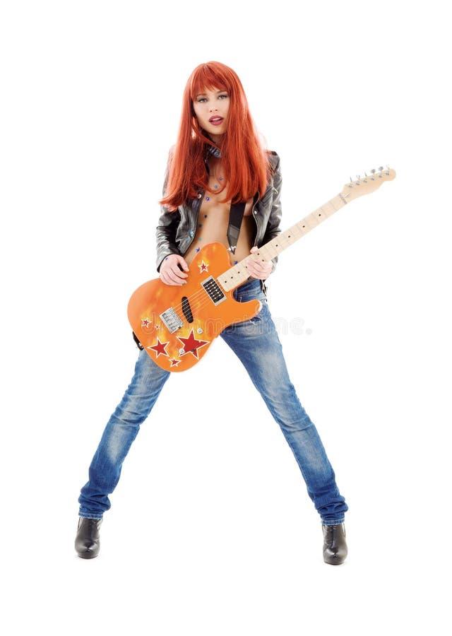 Gitarrenbaby stockfoto