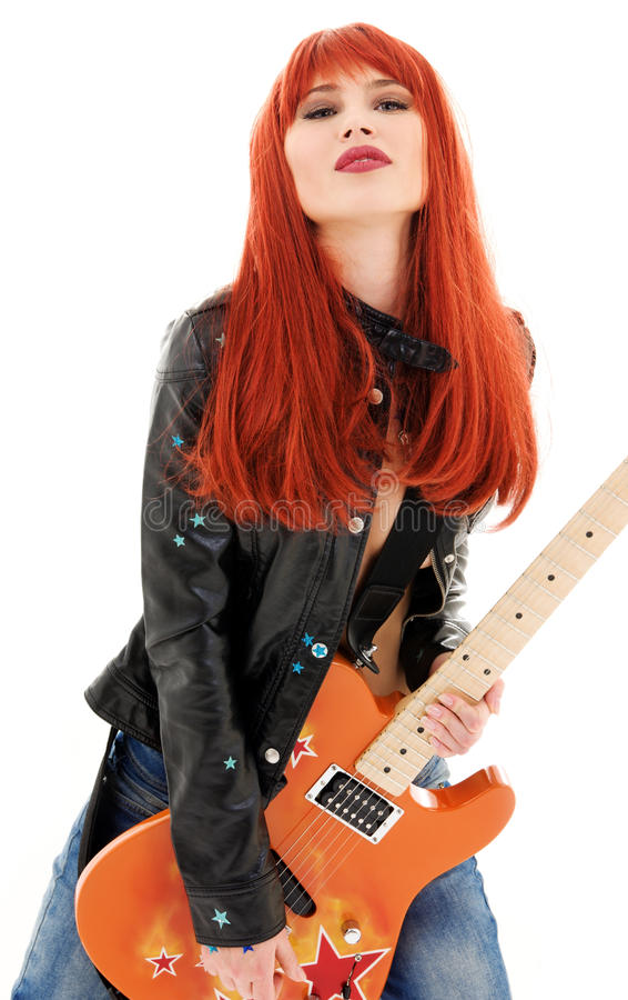 Gitarrenbaby stockbilder