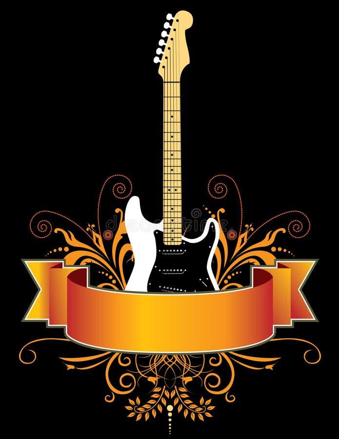 Gitarrenfahne vektor abbildung