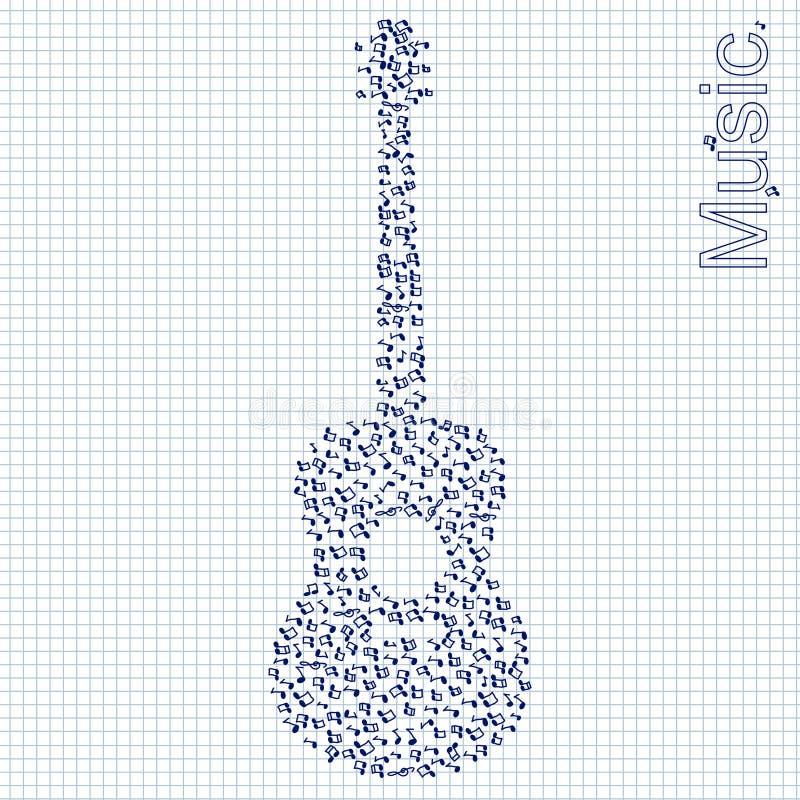 Gitarrenillustration stock abbildung