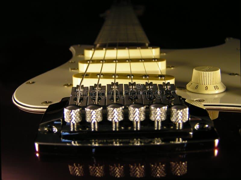 Gitarrenmakro Stockbilder