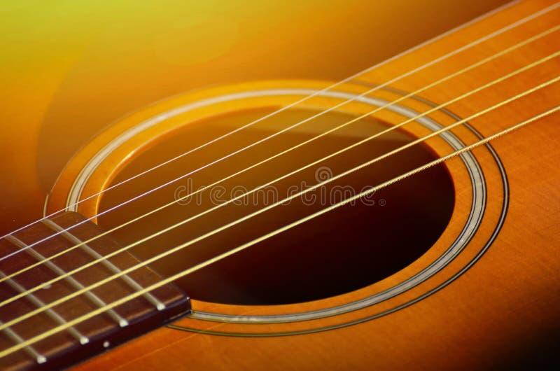 Gitarrenmakroschuß lizenzfreies stockfoto