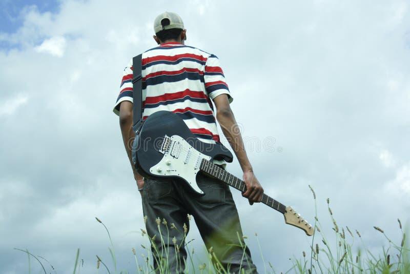 Gitarrenmann stockbilder