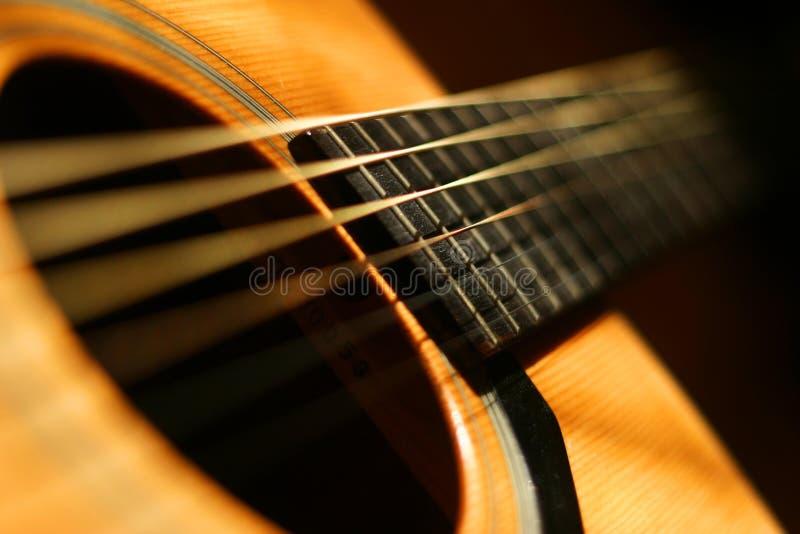 Gitarrennahaufnahme stockbild