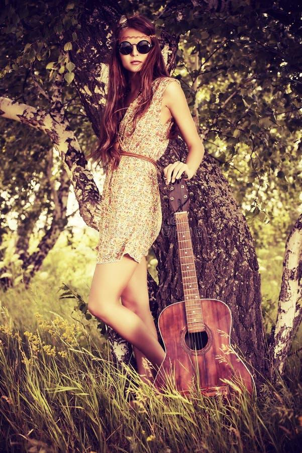 Gitarrennatur stockfotos