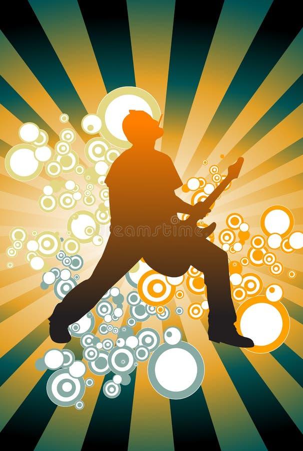 Gitarrenspieler stock abbildung
