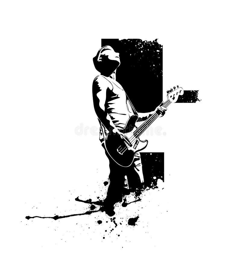 Gitarrenspieler vektor abbildung