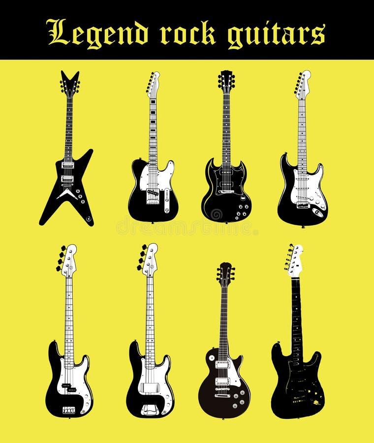 gitarrer stock illustrationer