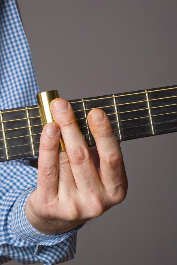 gitarrglidbana royaltyfri foto