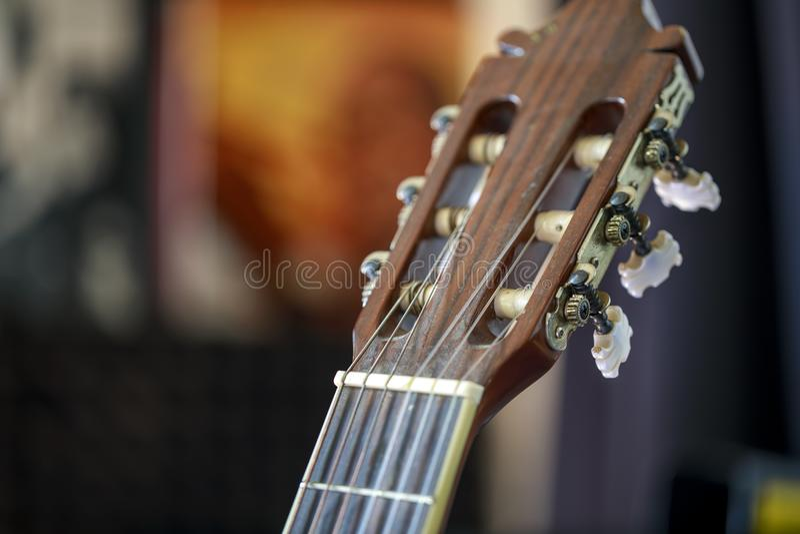 Gitarrhuvudmateriel royaltyfria bilder