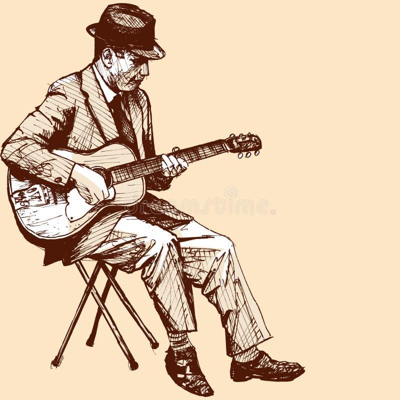 Gitarrist royaltyfri illustrationer