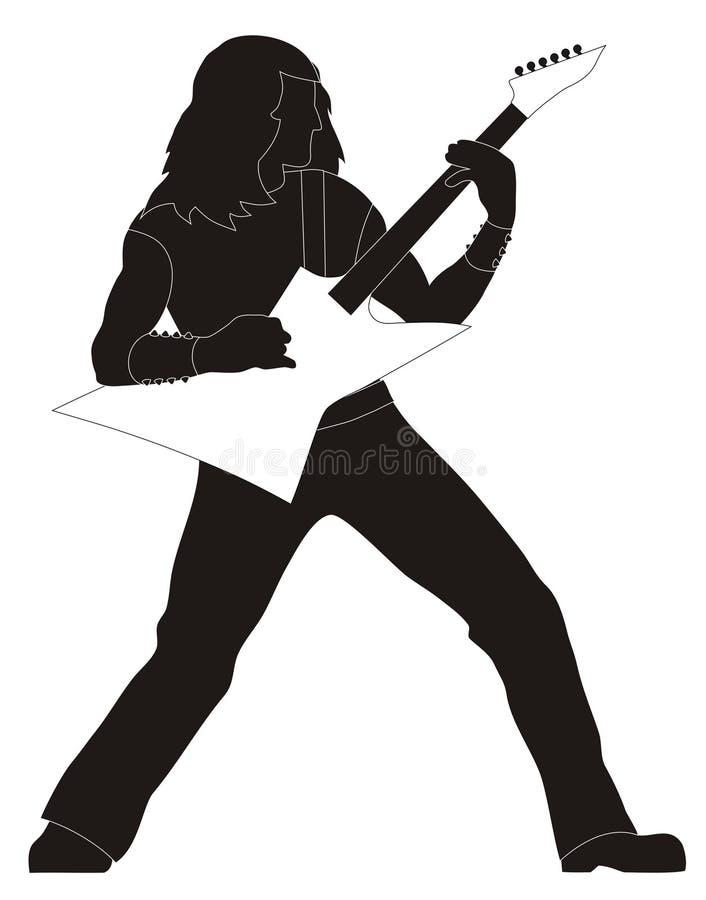 gitarrist stock illustrationer