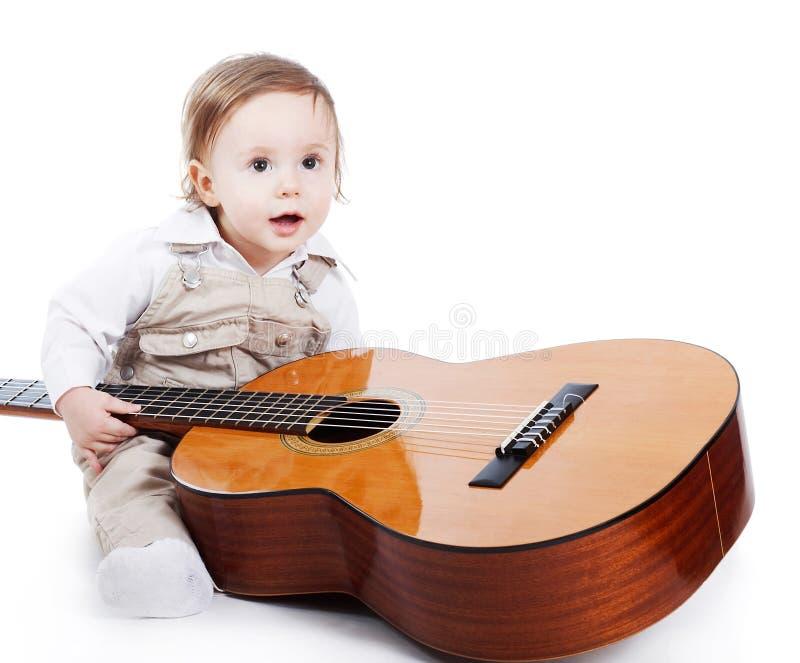 gitarrist little arkivfoton