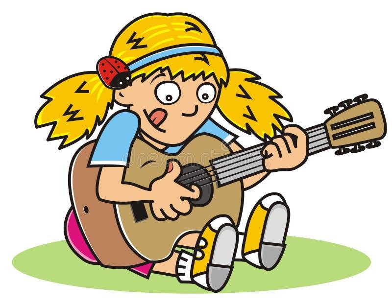 Gitarrist, Mädchen vektor abbildung