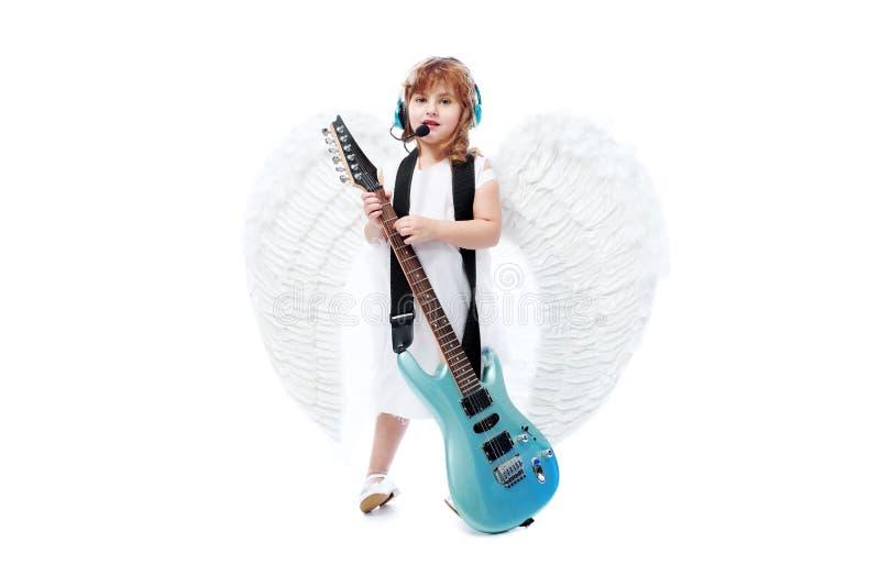 gitarristbarn arkivbilder
