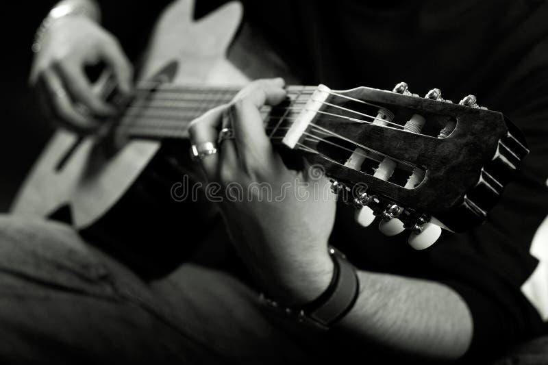 gitarristetapp royaltyfria foton