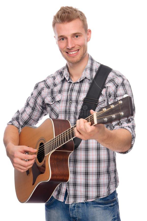 gitarrmanbarn arkivfoto