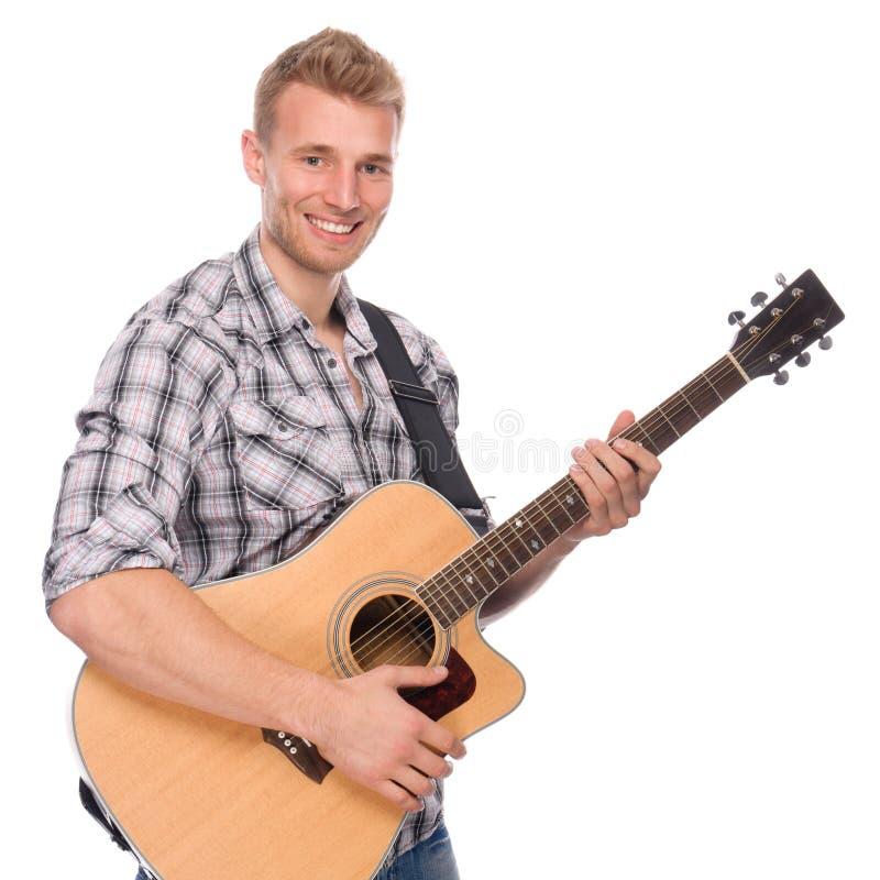 gitarrmanbarn royaltyfri fotografi