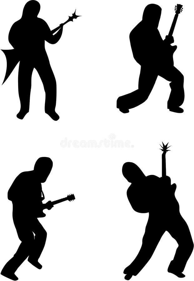 gitarrpos. royaltyfri illustrationer